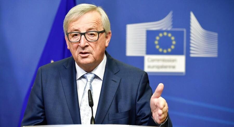 »Ingen vil betale mere. Og ingen vil miste noget,« siger Juncker.