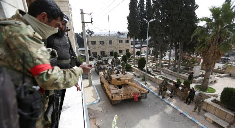 Tyrkiske styrker i Afrin, Syren 18. marts 2018. REUTERS/Khalil Ashawi