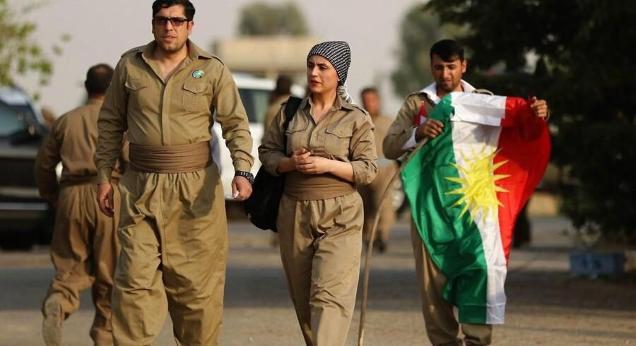 Arkivfoto. Der er folkeafstemning mandag i Iraks kurdiske region om uafhængighed. Vi er fast besluttet, siger leder.