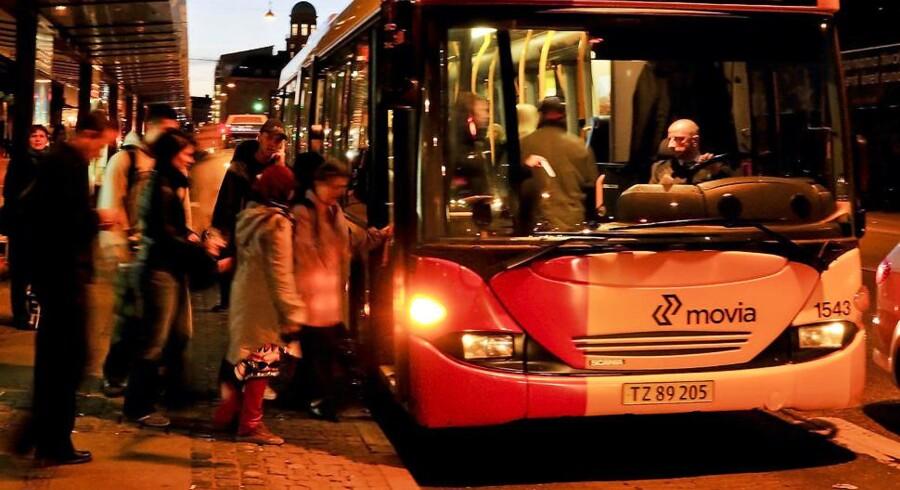 Arkivfoto: En kørende bybus fik søndag aften knust en rude, og mandag aften var der flere tilfælde af hærværk mod busser.