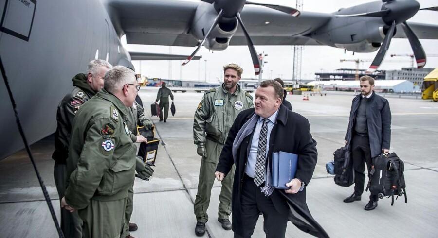 Målet med Nato-missionen i Baltikum er at reducere politiske og militære spændinger, siger statsministeren.