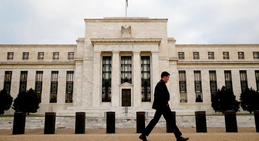 Arkivfoto.Den amerikanske økonomi voksede i et beskedent til moderat tempo fra midten af februar til slutningen af marts.