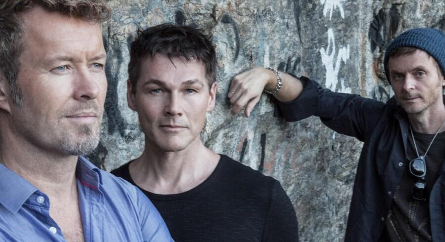 A-ha består af Magne Furuholmen, Morten Harket og Paul Waaktaar-Savoy. Free/Pressefoto