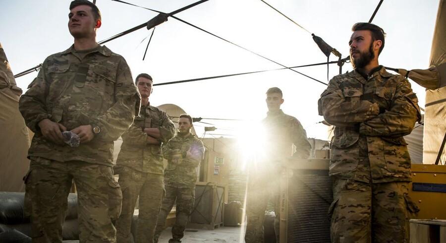 Arkivfoto: Camp Havoc i Irak. Danske soldater i aftensolen. (Foto: Ólafur Steinar Gestsson/Scanpix 2016)