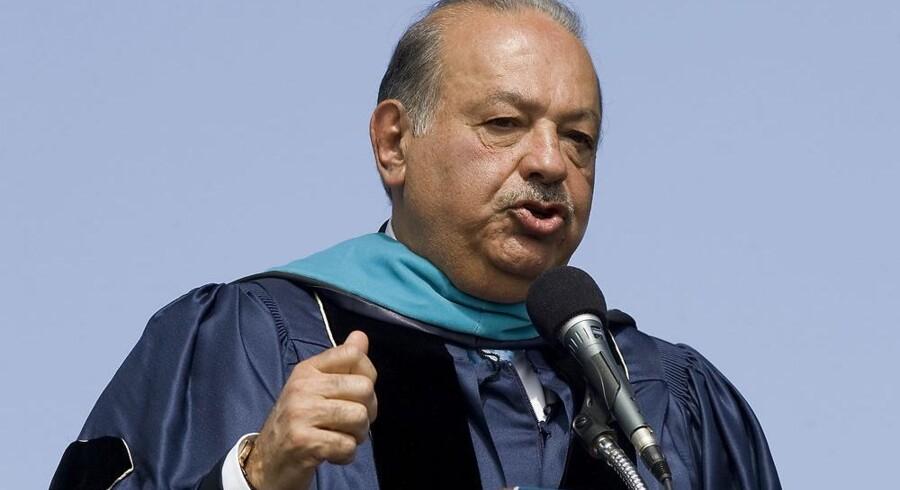 Den mexicanske multimilliardær Carlos Slim rykker nu ind i Europa. Arkivfoto: Jonathan Ernst, AFP/Scanpix