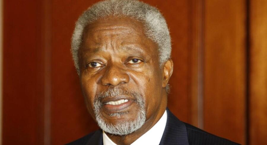 En tidligere modtager af Nobels Fredspris: Kofi Annan