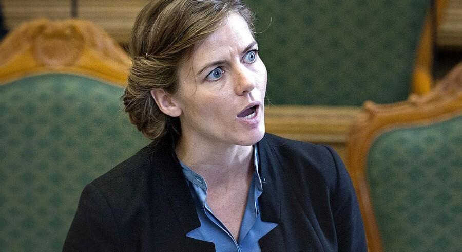 Ellen Trane Nørby, politisk ordfører for Venstre, i Folketingssalen.