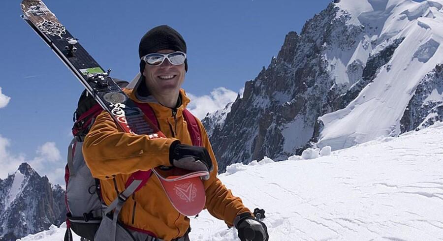 Fredrik Ericsson blev fredag dræbt i en tragisk ulykke på verdens næsthøjeste bjerg. Dette foto er taget i 2007 under træning i de franske alper.