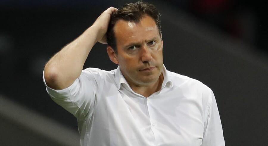 Marc Wilmots er færdig som belgisk landstræner efter skuffelsen ved EM i Frankrig. Reuters/Pascal Rossignol