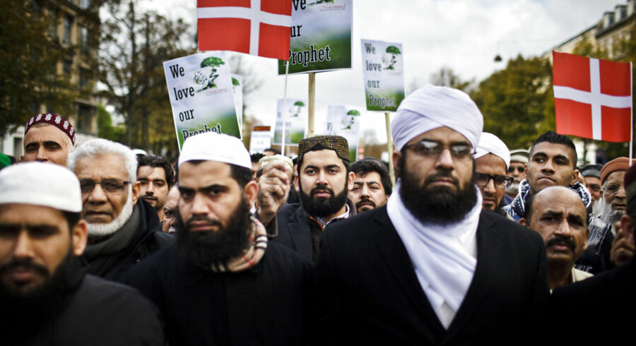 Demonstration i forbindelse med filmen »Innocence of muslims« ved den amerikanske ambassade.