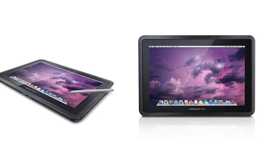 Modbook Pro er en MacBook Pro, der er blevet lavet om til en tavlecomputer med tilhørende touch pen. Den er utrolig kraftfuld, hvilket da heller ikke gør den helt billig - slet ikke hvis den skal importeres til Danmark. Foto: Modbook