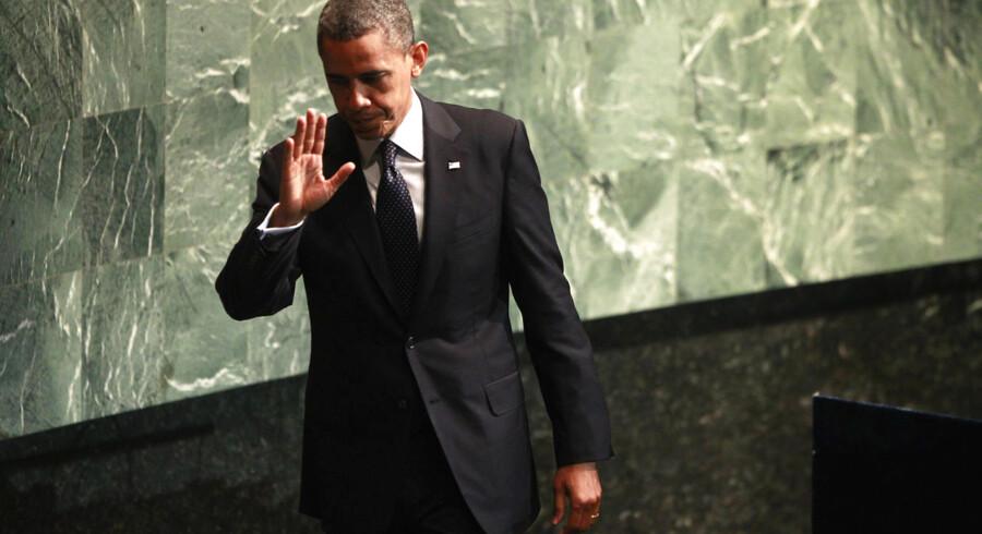 Barack Obama holdt tirsdag tale for FNs generalforsamling i New York.