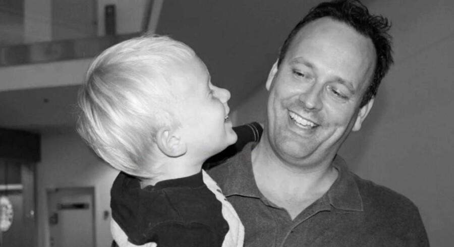 Thomas Sørensen med sin søn Oliver.
