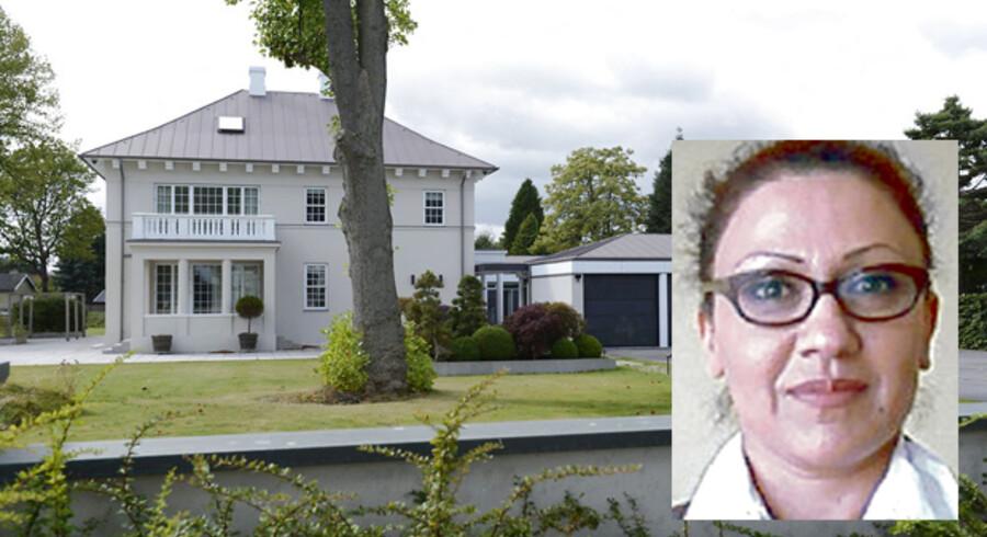 Amanda Jacobsen købte blandt andet denne ejendom for de mange millioner, hun svindlede sig til.
