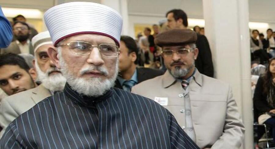 Blandt talerne på konferencen tirsdag aften var den kontroversielle muslimske leder af organisationen Minhaj ul-Quran, Muhammad Tahir ul-Qadri.