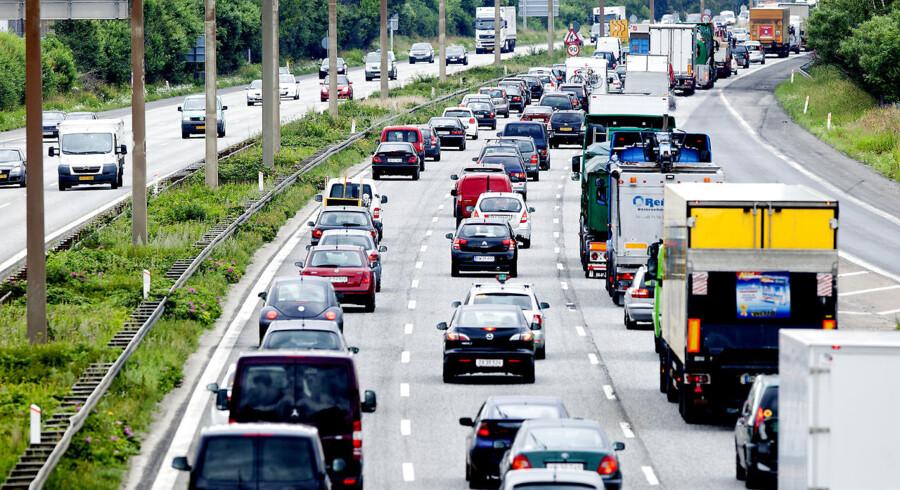 ARKIVFOTO. Ulykken skete på Holbækmotorvejen