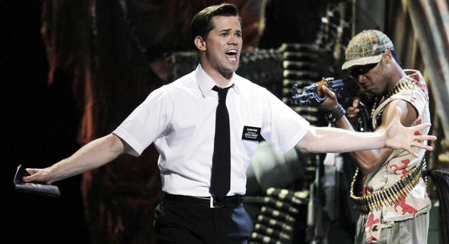 Ved Tony-prisuddelingen i 2011 modtog »The Book of Mormon« hele ni stauetter, herunder prisen for Årets Musical. Her den originale hovedrolleindehaver, Andrew Rannells. Foto: Gary Hershon.