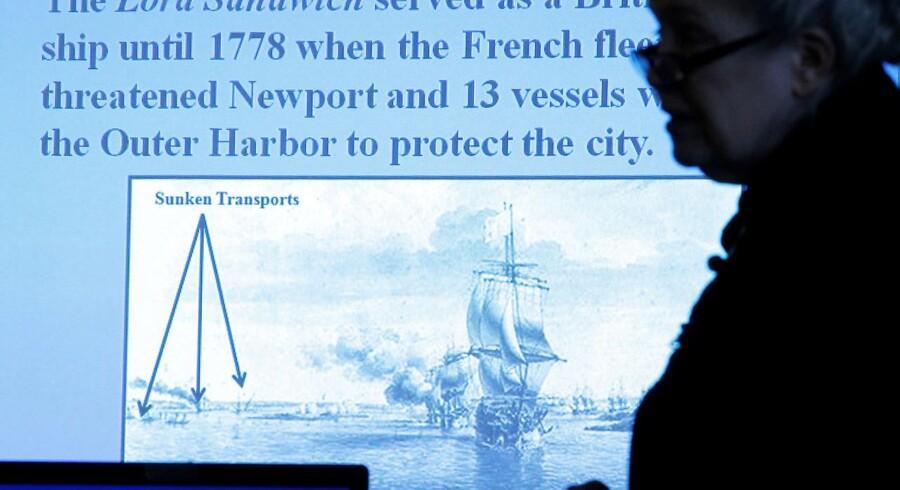 Nye undersøgelser fra Rhode Islands Marine Archeology Project (Rimap) tyder på, at det var et af 13 skibe, som med vilje blev sænket af den britiske flåde i 1778 for at blokere havnen mod franskmændene. Skibet ligger i en klynge sammen med fire andre skibe