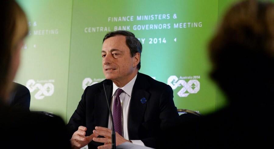 ECB mødes d. 23/2-14, Australien. Her ses Mario Draghi, præsident for ECB.