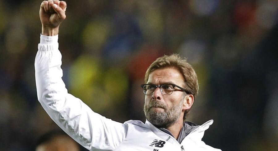 Liverpools manager, Jürgen Klopp, er ikke helt tilfreds med sit holds indsats i de afsluttende minutter af torsdagens Europa League-semifinale ude mod Villarreal.