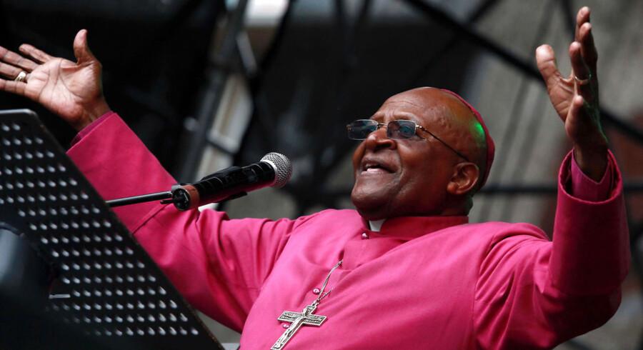 Arkivfoto. Den tidligere ærkebiskop i Cape Town, Desmond Tutu