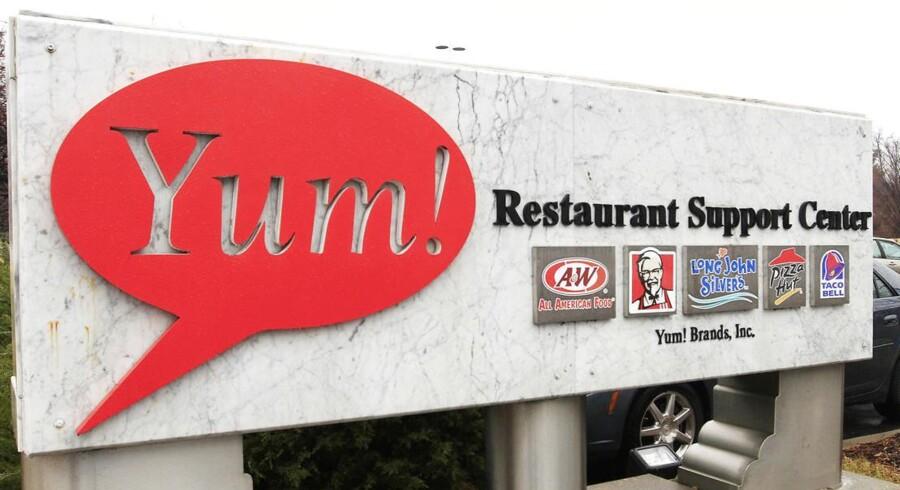 Yum Brands står bl.a. bag kendte fastfood kæder som Pizza Hut, KFC & Taco Bell