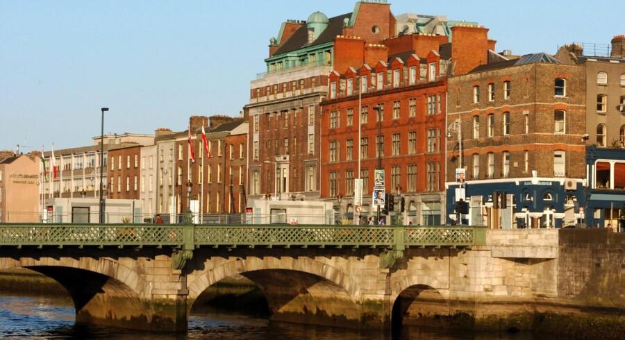 Det irske ejendomsmarked og især Dublin er igen blevet interessant for ejendomsinvestorer og ejendomsudviklere. Foto: Barry Cronin/AFP