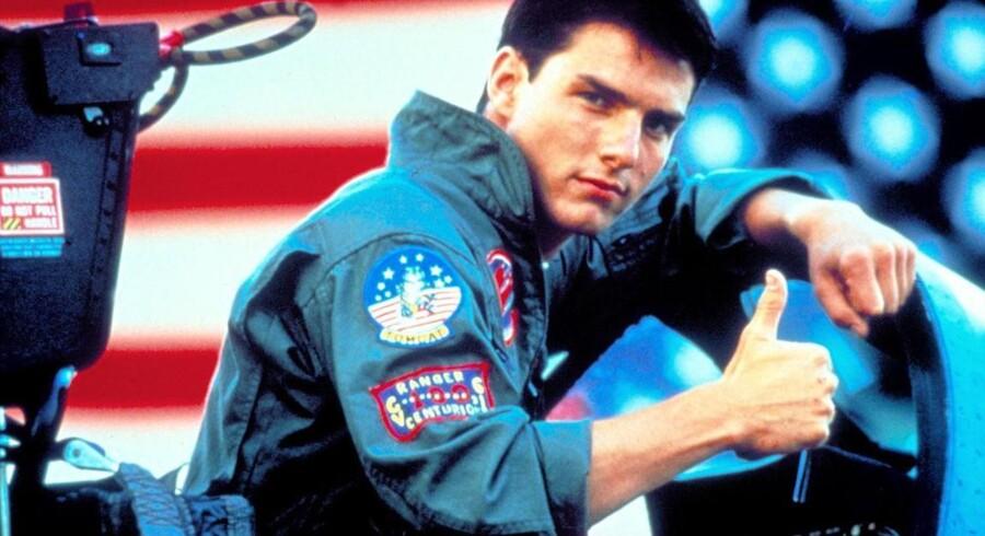 Still fra filmen Top Gun med Tom Cruise.