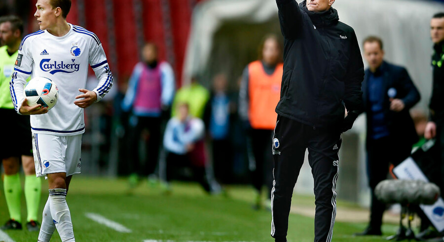 FCK-SønderjyskE. FCKs cheftræner Ståle Solbakken.