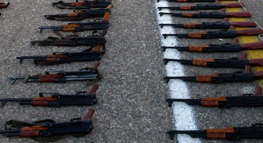 Kalashnikov-riflen er blevet populær blandt amerikanske våbenentusiaster.