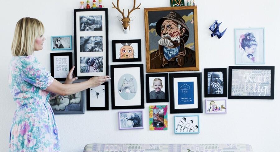 Retro-bloggeren Louise Trillingsgaard har indrettet sig med loppefund, som giver parcelhuset i Kolding personlighed.