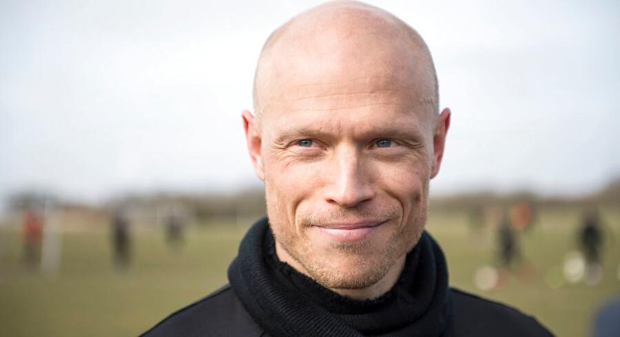 Christian Keller under træning med Randers FCs mandag d. 14. marts 2016.