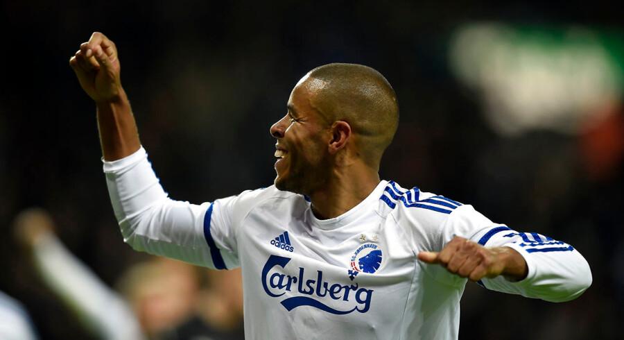 16-03-2016: Fodbold DBU Pokal FC København-Randers FC: Mathias Zanka Jørgensen, FCK FC København/FC Copenhagenscorer til resultatet 2-1 Foto: Lars Møller/Scanpix