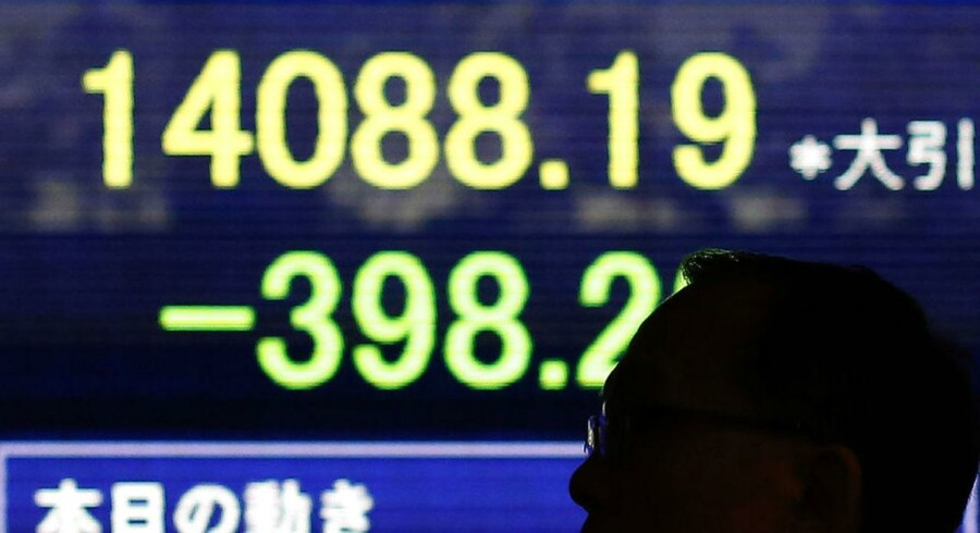 Det toneangivende japanske indeks, Nikkei 225, er på vej mod et fald på 0,3 pct.