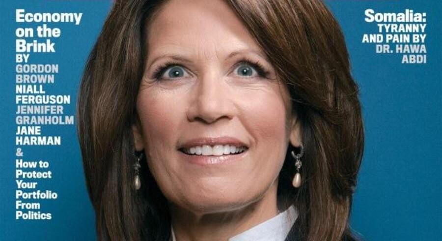 Michelle Bachmanns maniske udtryk har vakt vrede blandt konservative bloggere.