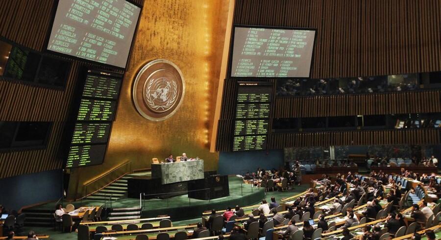 Afstemning i FN i New York.