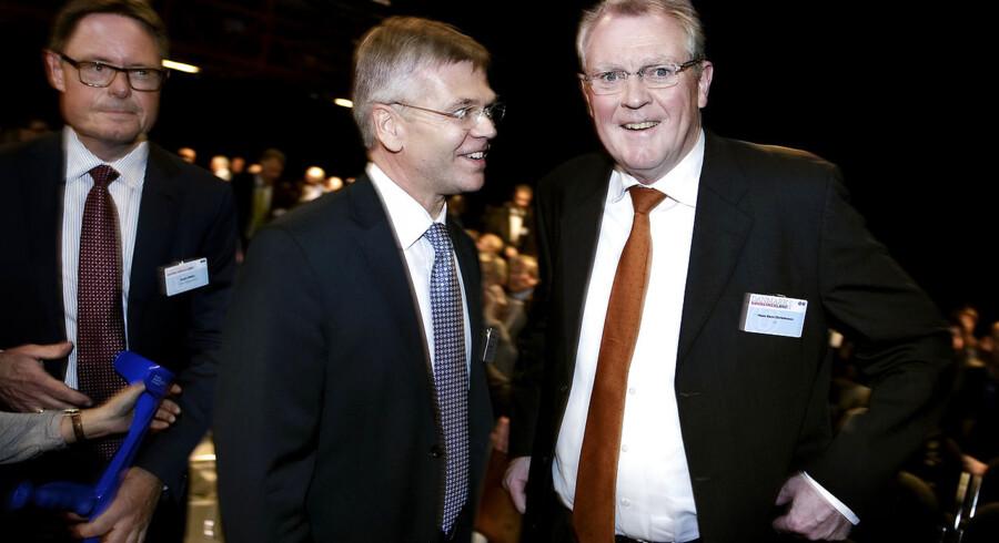 Da Hans Skov Christensen efter 18 år valgte at gå af som administrerende direktør i Dansk Industri overtog Karsten Dybvad hans plads. Her ses de to sammen til Dansk Industris topmøde i 2010.