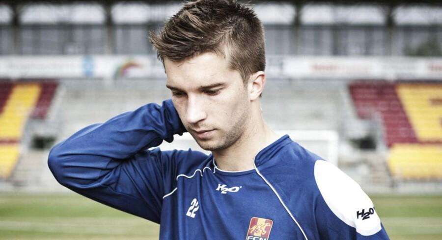 Portræt af fodboldspilleren - og søn af Michael Laudrup - Andreas Laudrup fra FC Nordsjælland fotograferet i Farum Park.