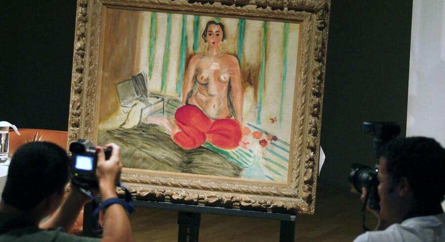 """Eksperter vurderer billedet, """"Odalisque a la culotte rouge"""" fra 1925, til at være 18 millioner kroner værd."""