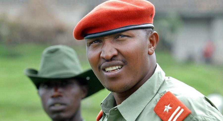 Ntaganda Bosco fotograferet ved hans base i bjergene cirka 40 km nordvest for byen Goma.