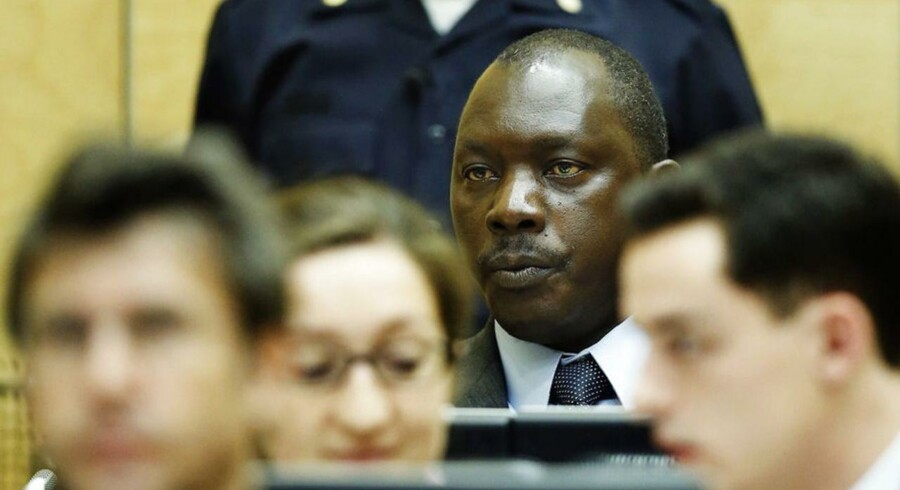 Lubanga i retten.