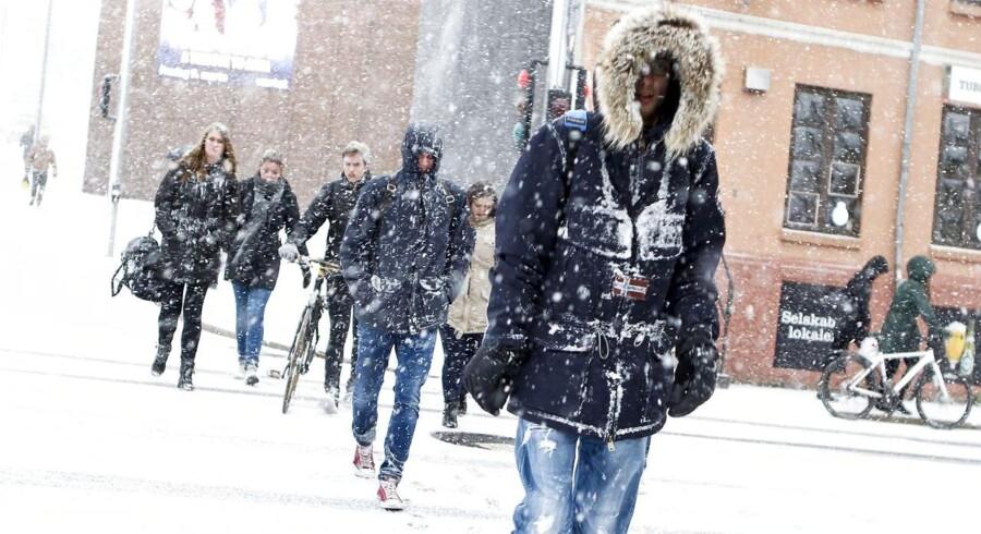 Overordnet bliver vejret i weekenden mere vinterligt, end det har været de foregående dage.