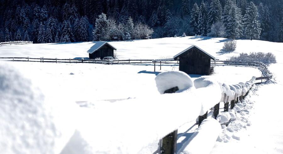 Snedækket landskab nær Garmisch-Partenkirchen 18. januar.