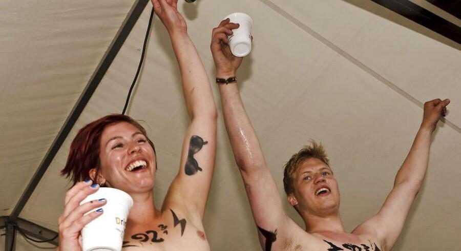 Roskilde festivalen 2012. Det årlige nøgenløb lørdag d.7.juli 2012.