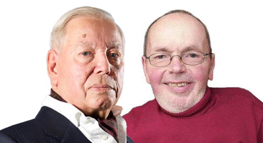 Holger Kallehauge og Evald Krog, Tidl. landsdommer, formand for PTU Formand for Muskelsvindfonden