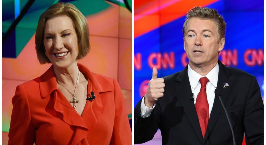 Carly Fiorina og Rand Paul er ikke inviteret til debat på Fox News.