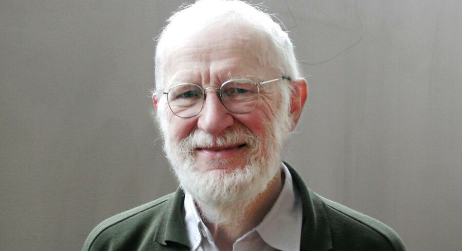 Peter Naur i 2008, da han fyldte 80.
