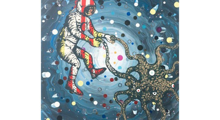 Anders Brinchs »Love in space/Discodance« fra 2006 er et af de mange malerier, som kan opleves på Fyns Kunstmuseum.