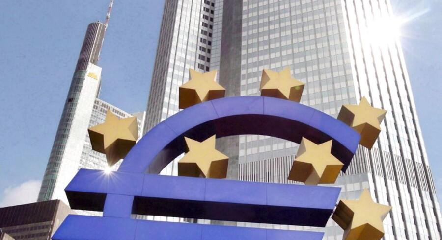 ECB, hvis hovedkvarter ligger i Frankfurt, kommer med sin renteudmelding klokken 13.45, hvorefter centralbankchef Mario Draghi holder pressemøde klokken 14.30.