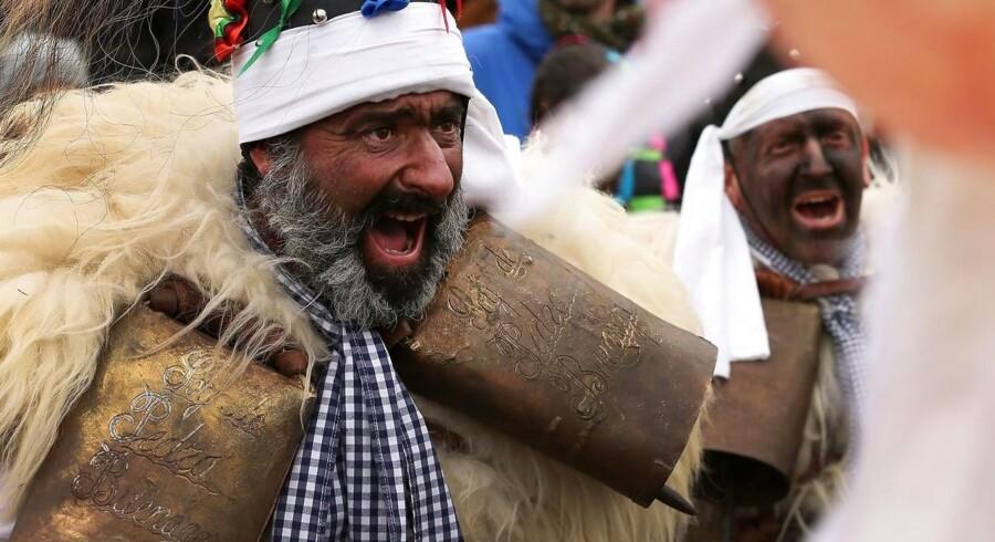 """""""La Vijanera""""-karnevallet i den nordspanske landsby Silio har aner helt tilbage til de romerske traditioner og afvikles på årets første søndag."""